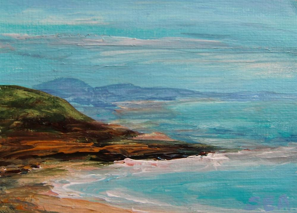 """3023 - HEADLAND - ACEO Series"" original fine art by Sea Dean"