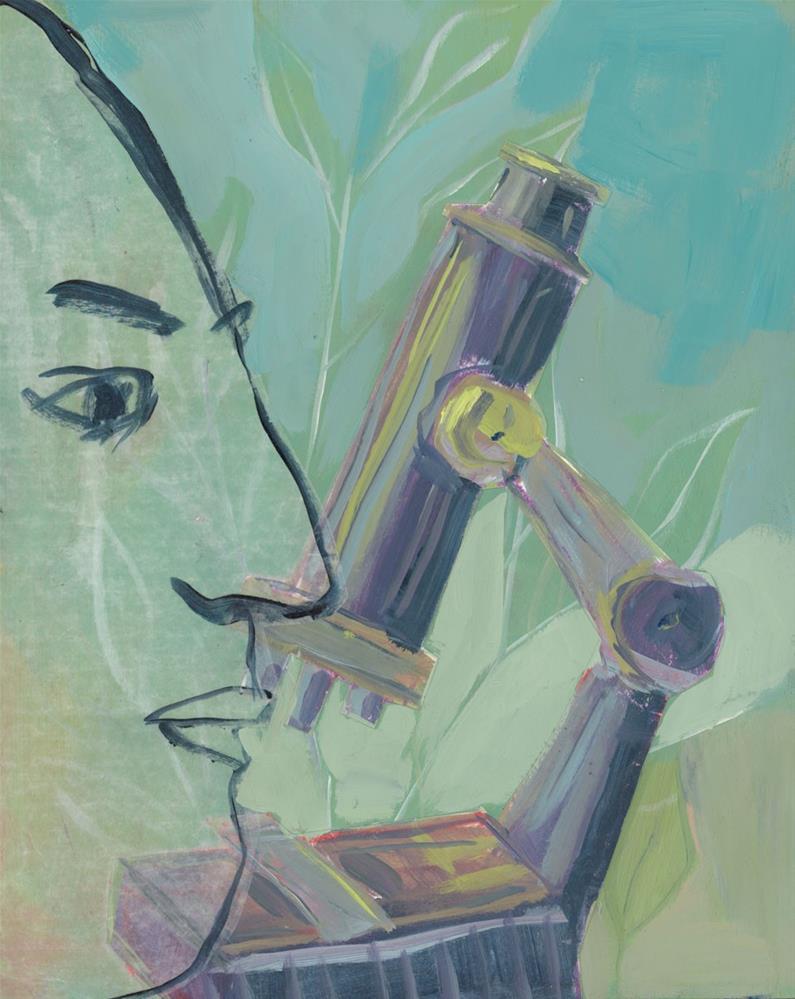 """1110: Single Cell Paramecium"" original fine art by Brian Miller"