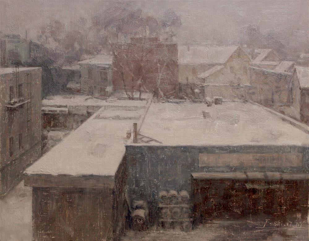 """Landscape(9)"" original fine art by fengshi jin"