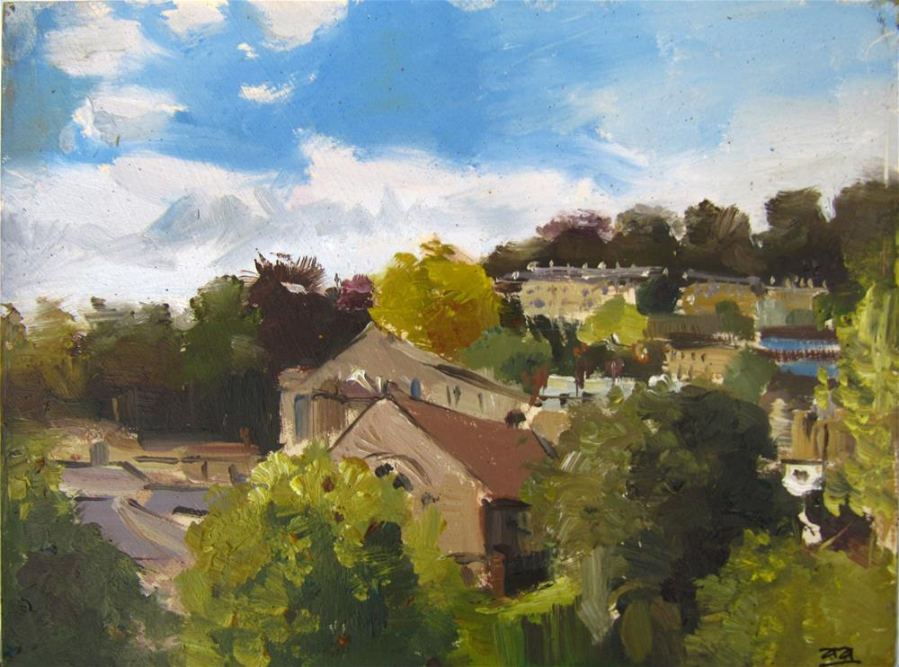 """City of Bath Landscape 11"" original fine art by Adebanji Alade"