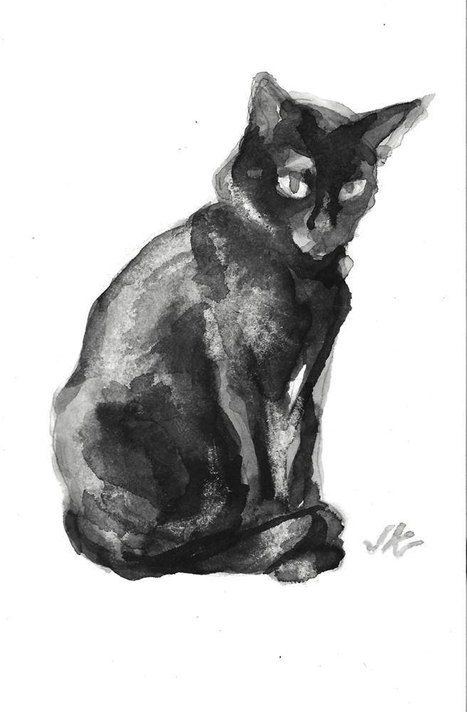 """Daily Cat 116"" original fine art by Jean Krueger"