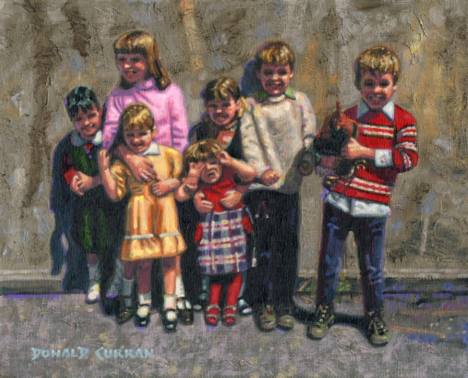 """Irish Kids"" original fine art by Donald Curran"