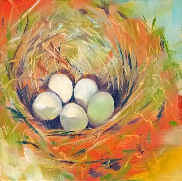 """""""Five in the Hole"""" original fine art by Brenda Ferguson"""
