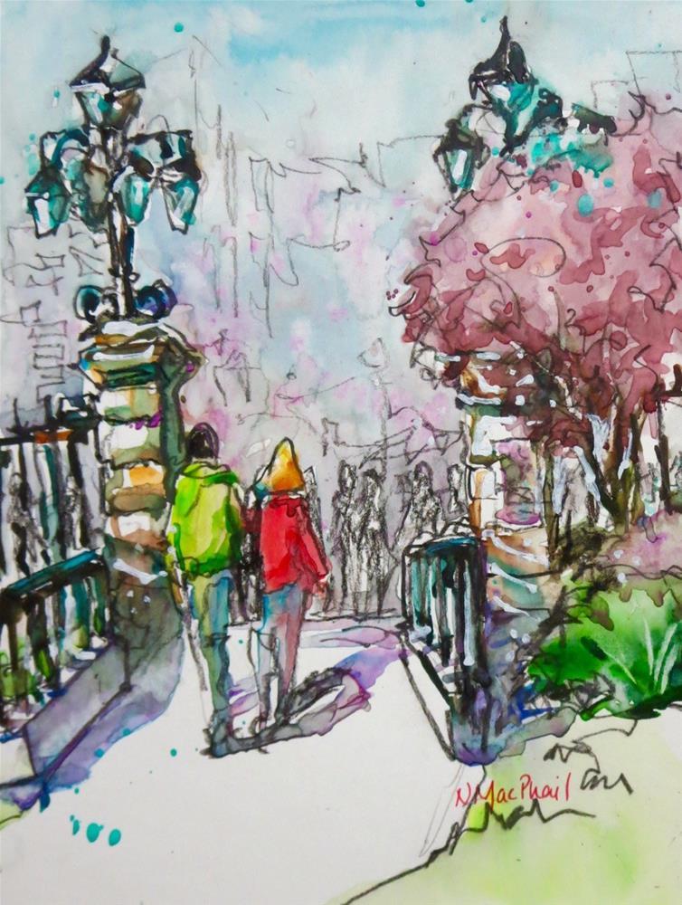 """the gate at Philosopher's Walk"" original fine art by Nora MacPhail"