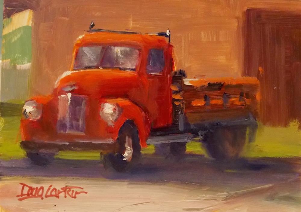 """""""BIG RED"""" original fine art by Doug Carter"""