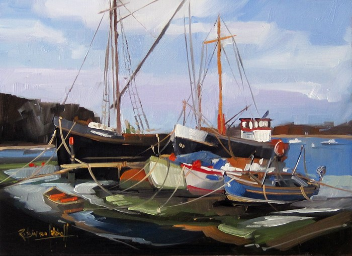 """No 804 Low tide"" original fine art by Robin J Mitchell"