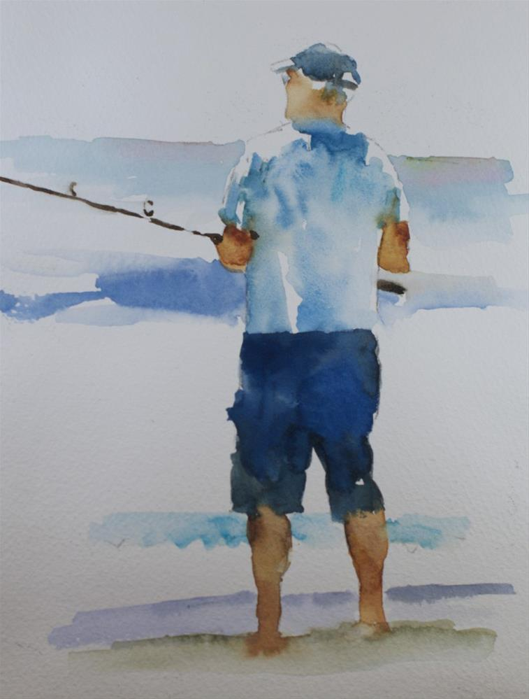 """Fisherman Sketch"" original fine art by Sue Churchgrant"