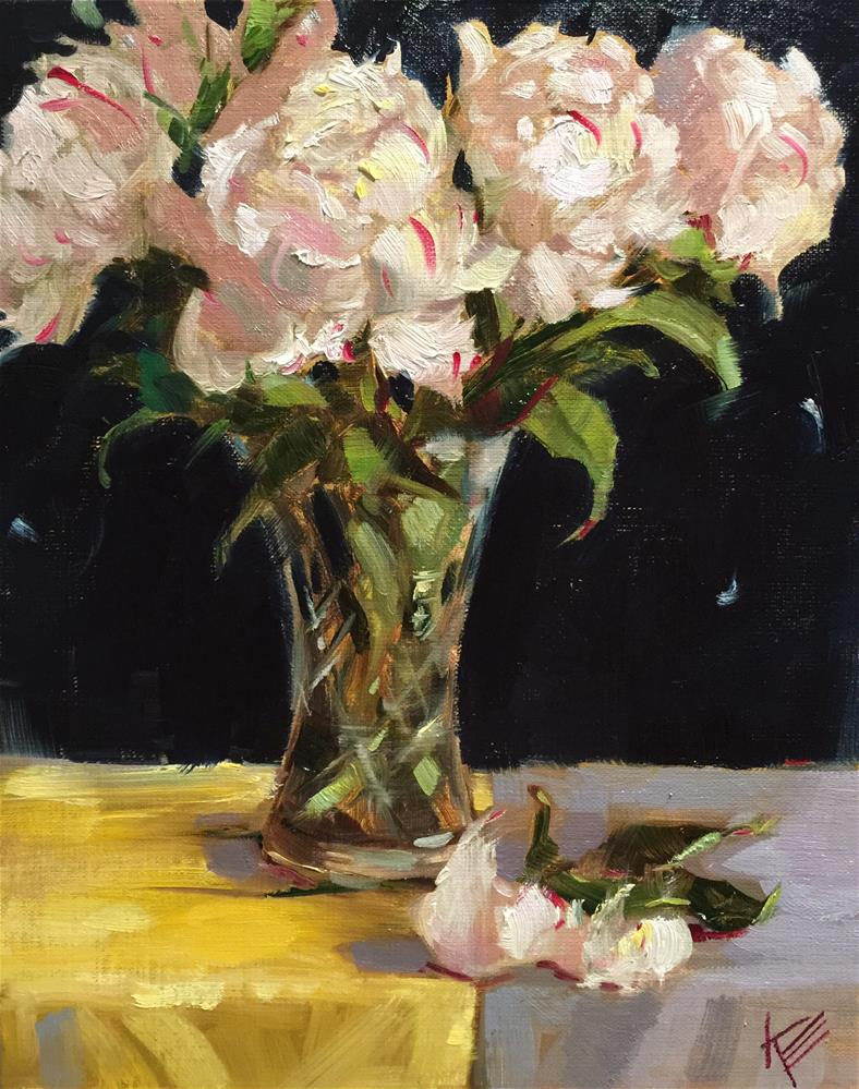 """Peonies in Crystal"" original fine art by Krista Eaton"