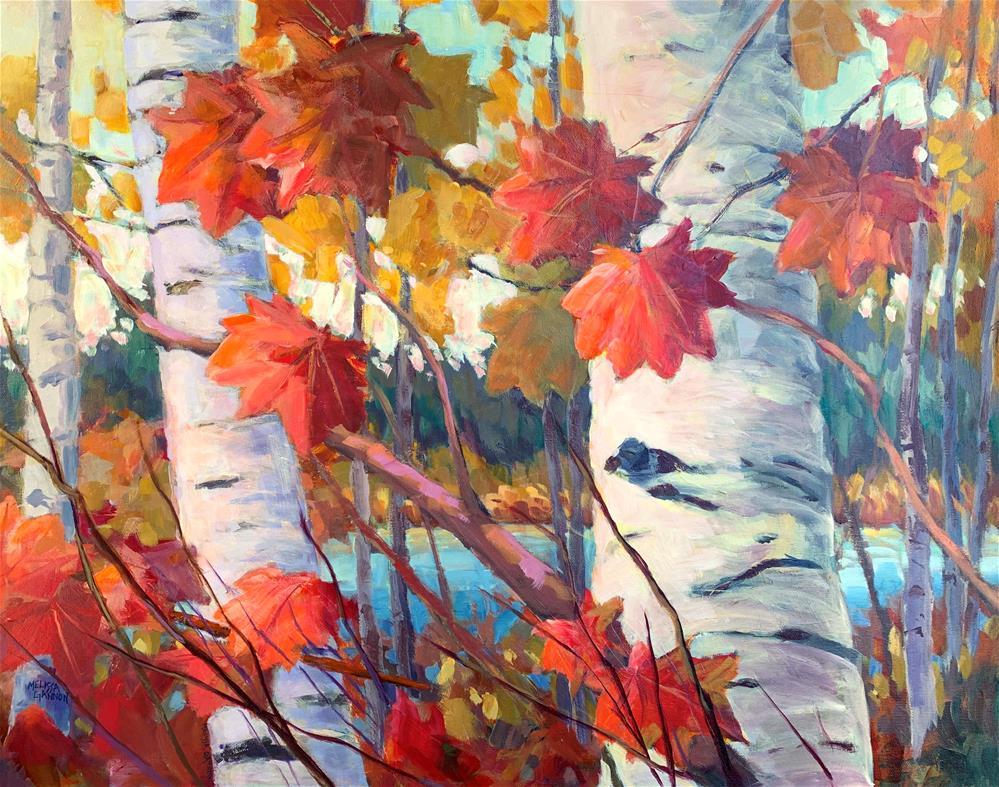 """Dancing Magic of Autumn"" original fine art by Melissa Gannon"