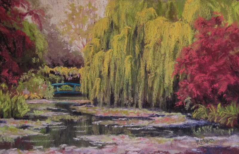 """""""Memories of Giverny"""" original fine art by Ruth Mann"""