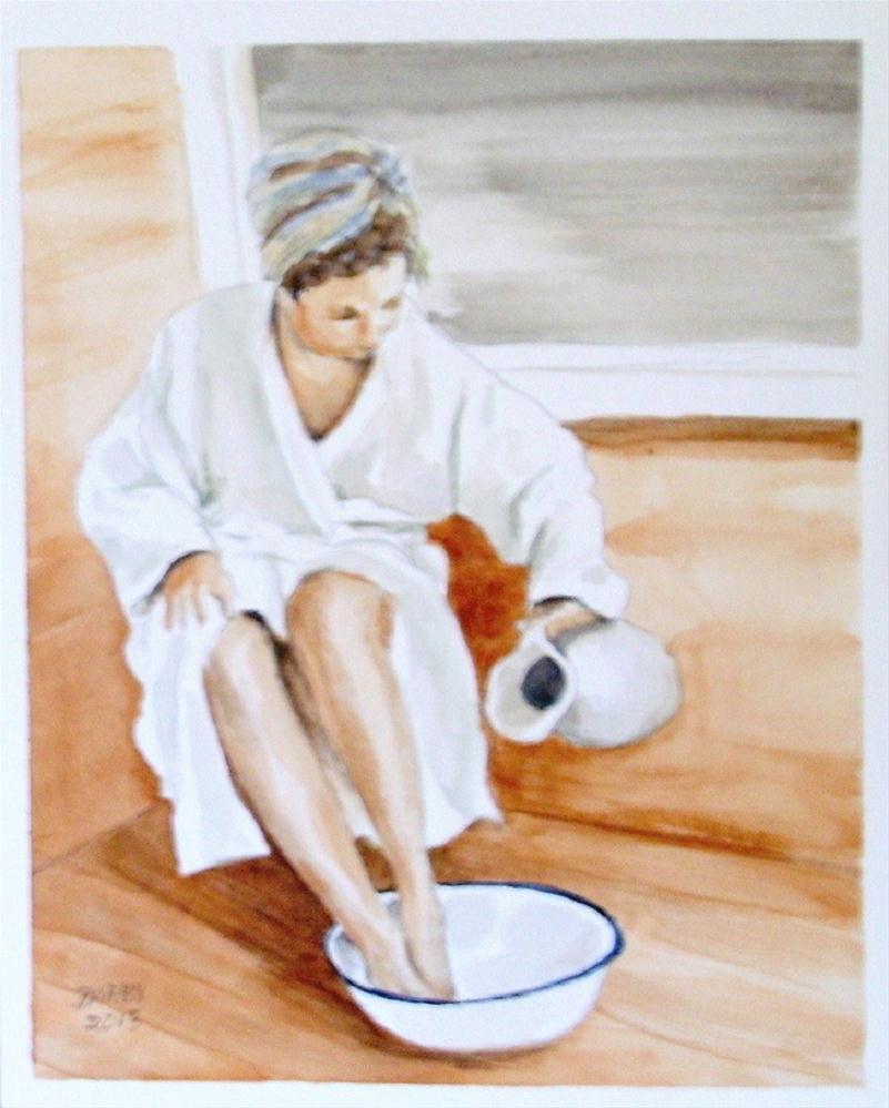 """Bather Challenge"" original fine art by Lynn Darby"