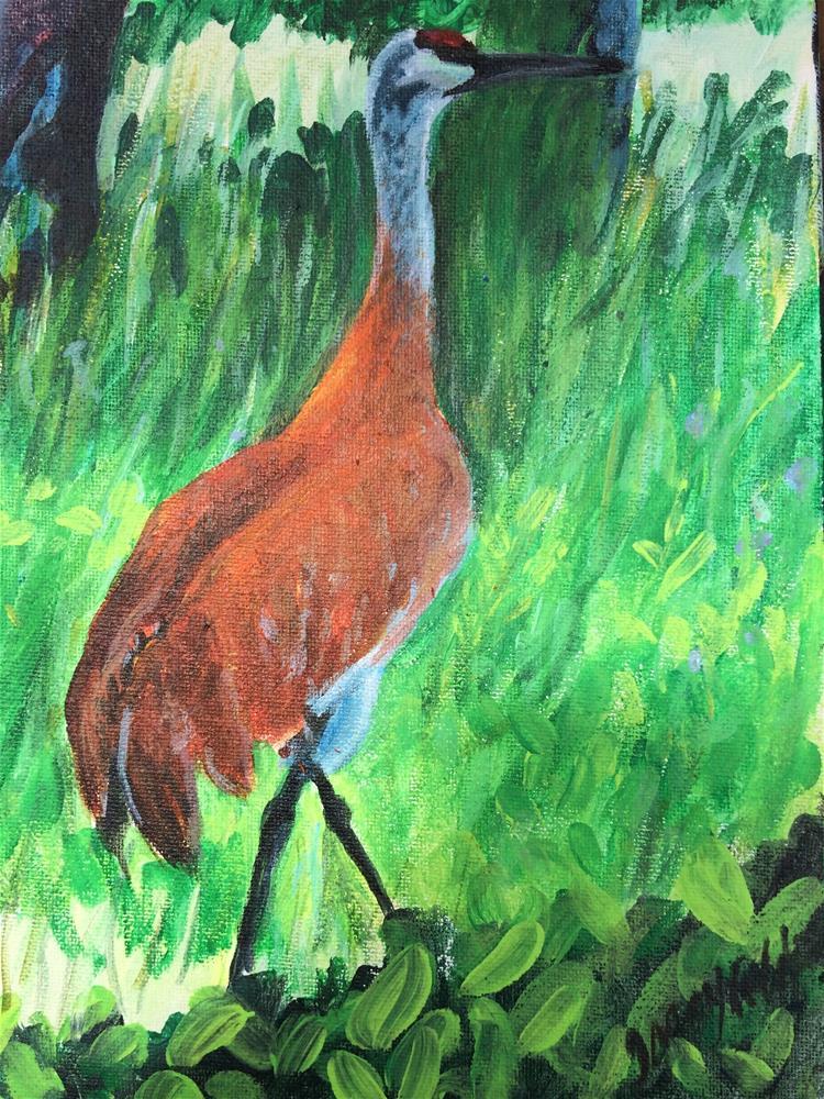 """Of Dappled Light and Sandhill Cranes"" original fine art by Tracy Feldman"