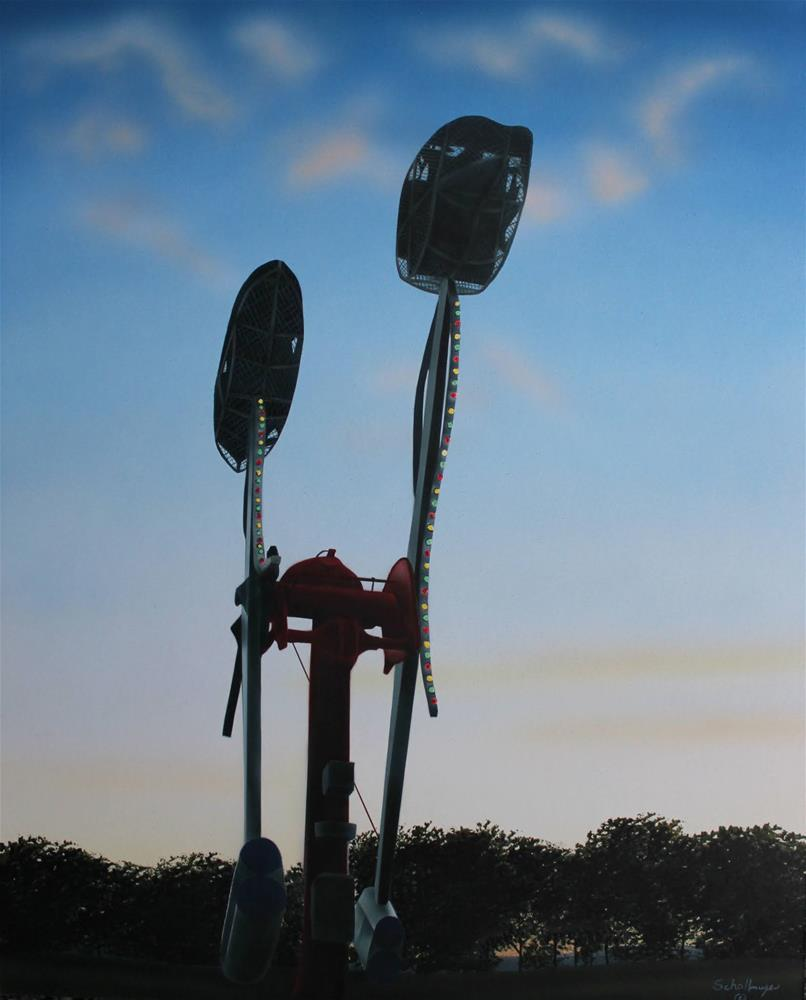 """Carnival Ride (August Evening)"" original fine art by Fred Schollmeyer"