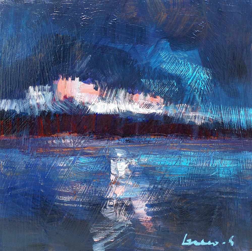 """Lght on the lake"" original fine art by salvatore greco"