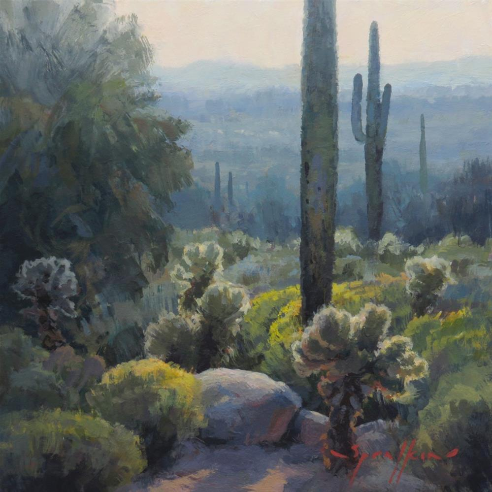 """Cholla Glow"" original fine art by Edward Sprafkin"
