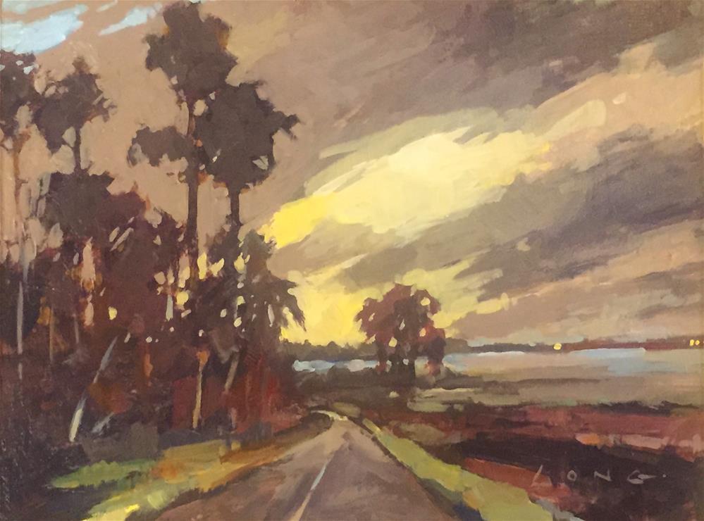"""Bayou Road"" original fine art by Chris Long"