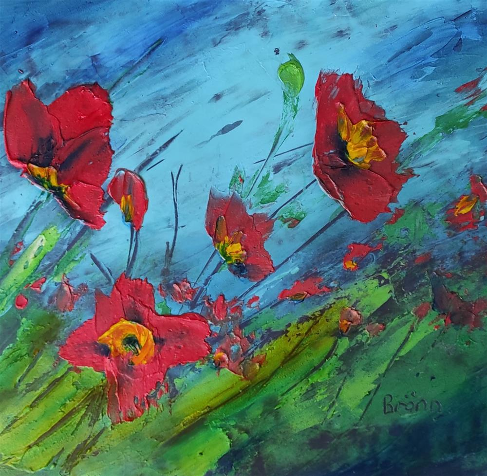 """Poppies"" original fine art by Gerdus Bronn"