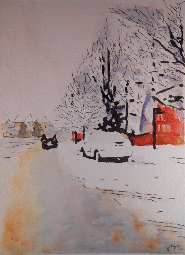 """Ashburn Snow"" original fine art by Juan Velasquez"