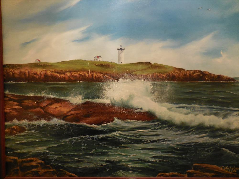 """Nubble Beach Lighthouse"" original fine art by Terri Nicholson"