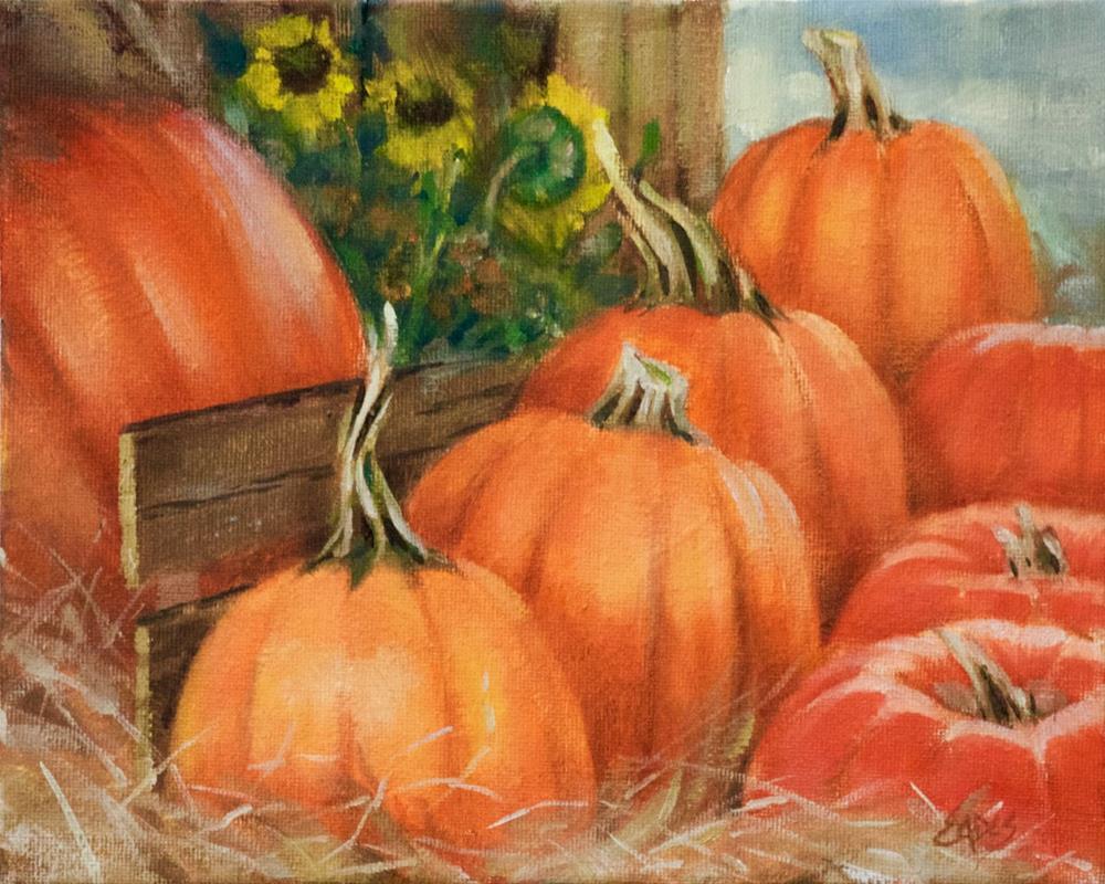 """Fall's Harvest"" original fine art by Linda Eades Blackburn"
