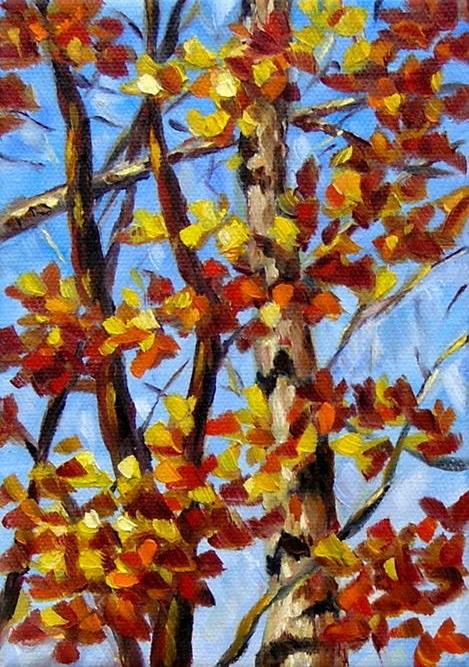 """""""Autumn's Palette"""" original fine art by Irina Beskina"""