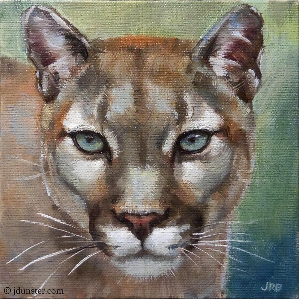 """""""Puma"""" original fine art by J. Dunster"""
