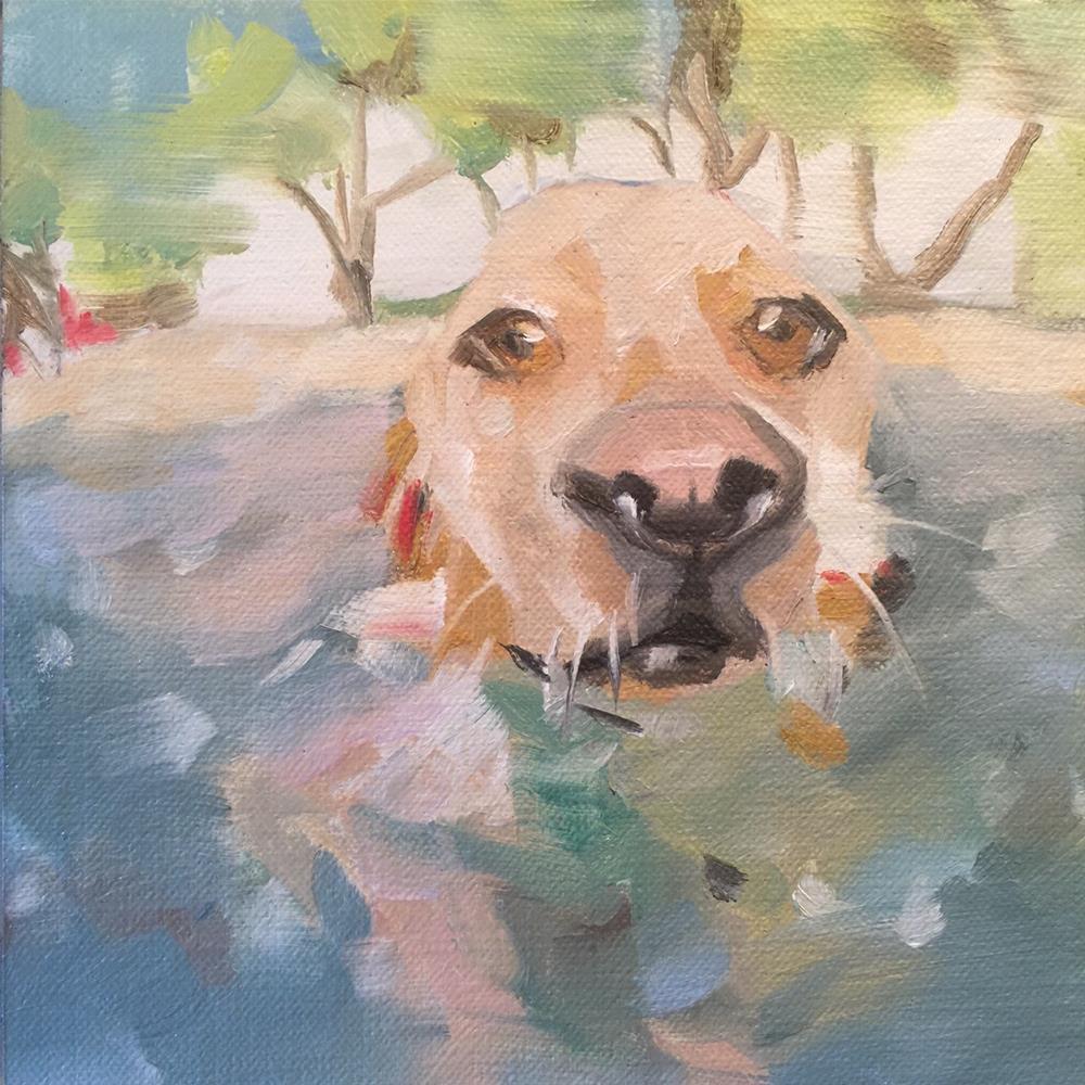 """""""383 Good Dog"""" original fine art by Jenny Doh"""