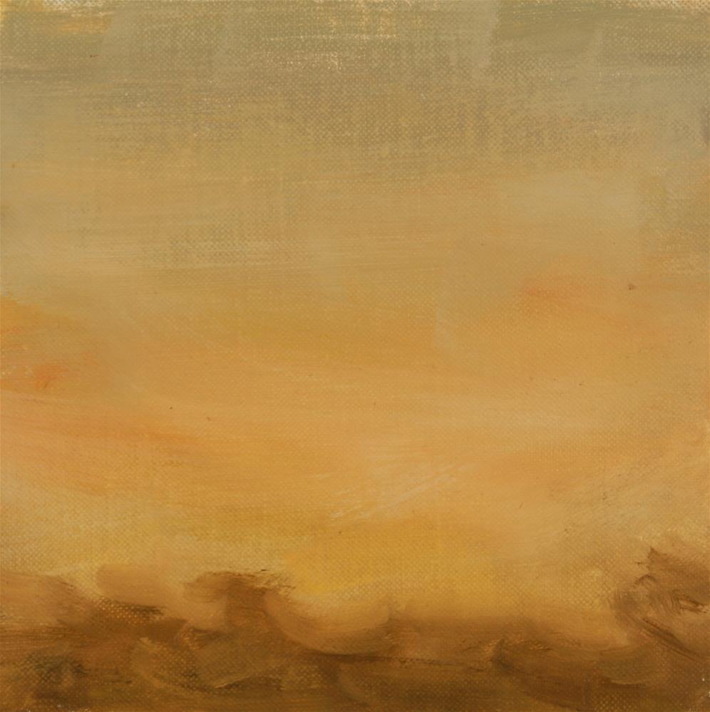 """""""Fall Sunset 16"""" original fine art by Scott Serafica"""