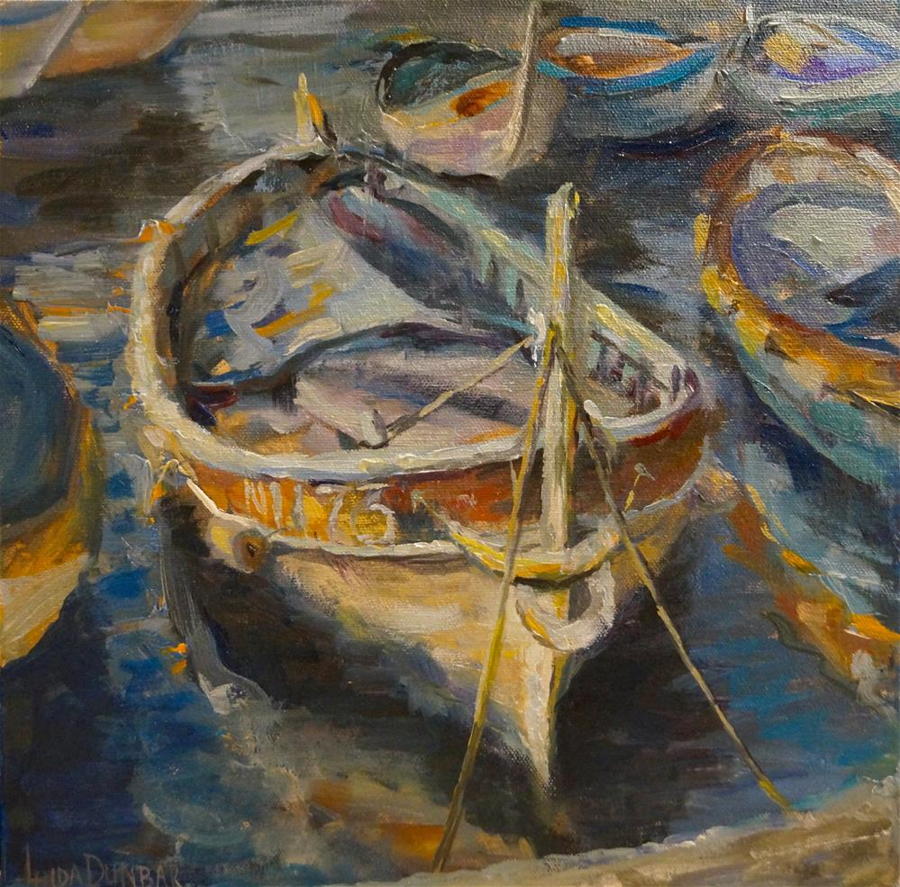 """The French Boats"" original fine art by Linda Dunbar"