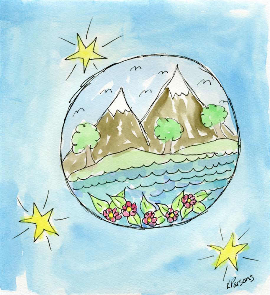 """World View"" original fine art by Kali Parsons"