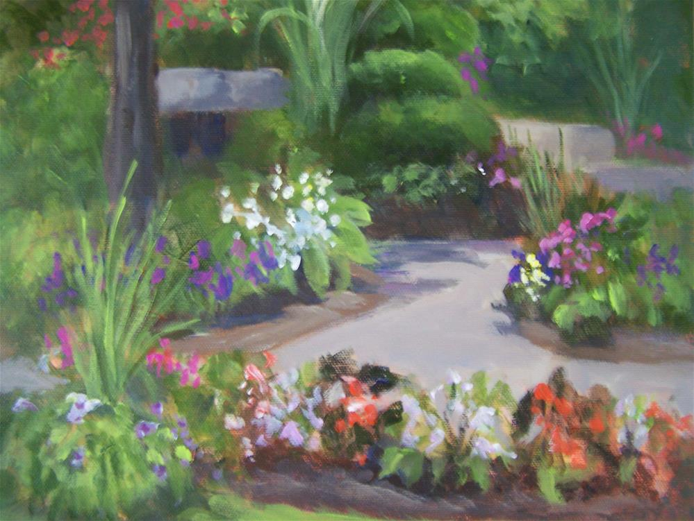 """Garden Path"" original fine art by Joan Reive"