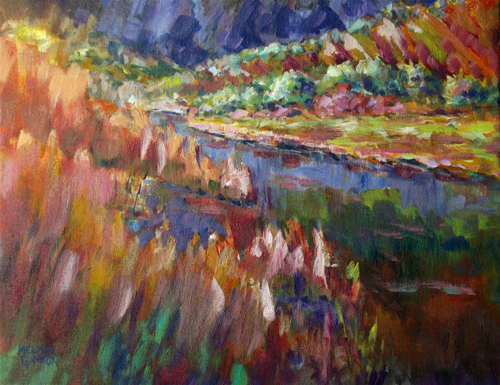"""John Day River"" original fine art by Melissa Gannon"