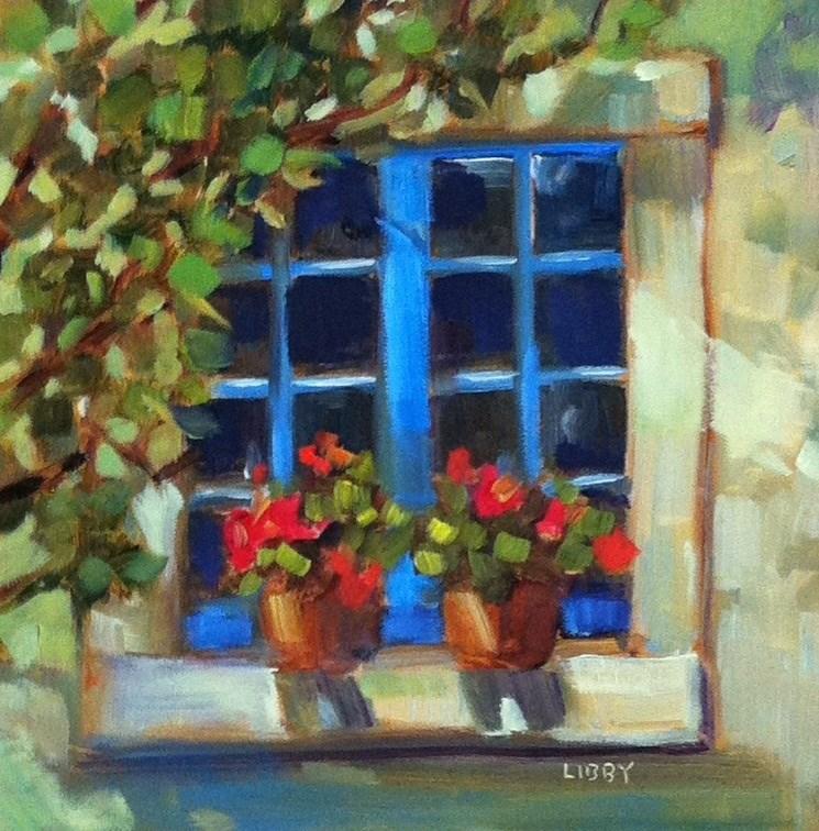"""Blue Window"" original fine art by Libby Anderson"