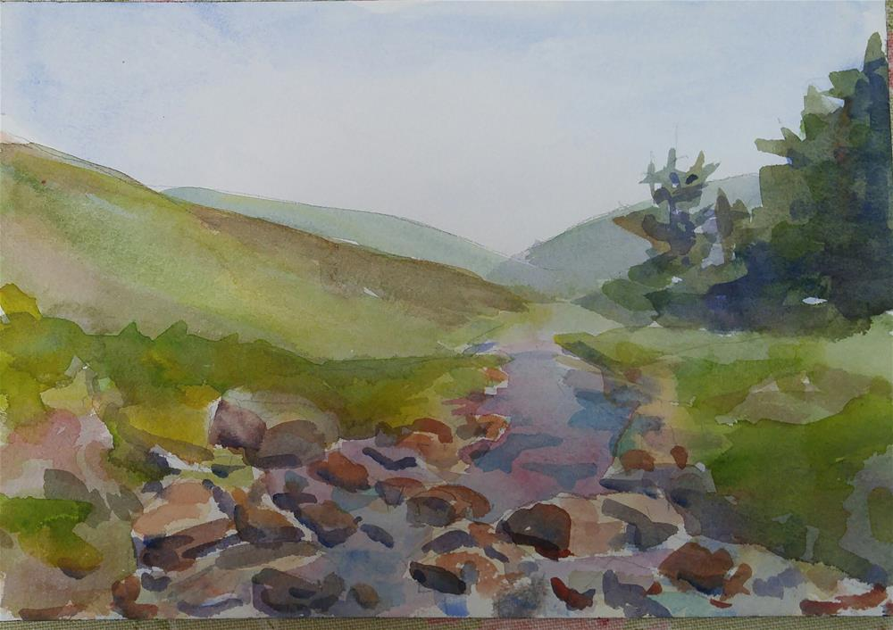 """""""Wicklow View"""" original fine art by angela scully"""
