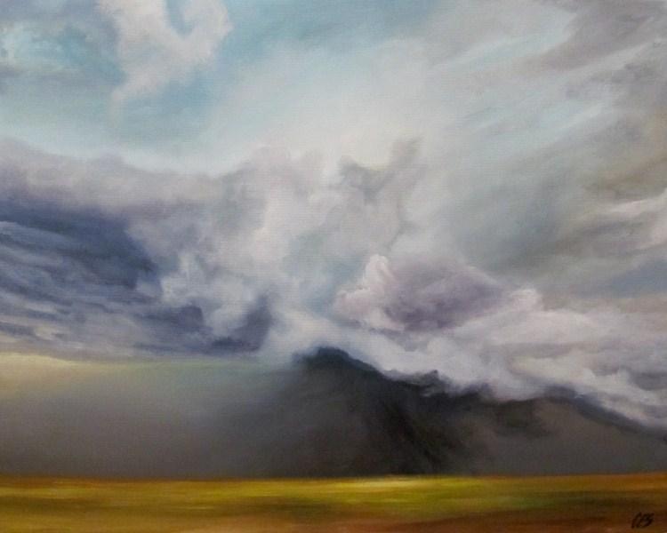 """""""Prairie Storm"""" original fine art by ~ces~ Christine E. S. Code"""