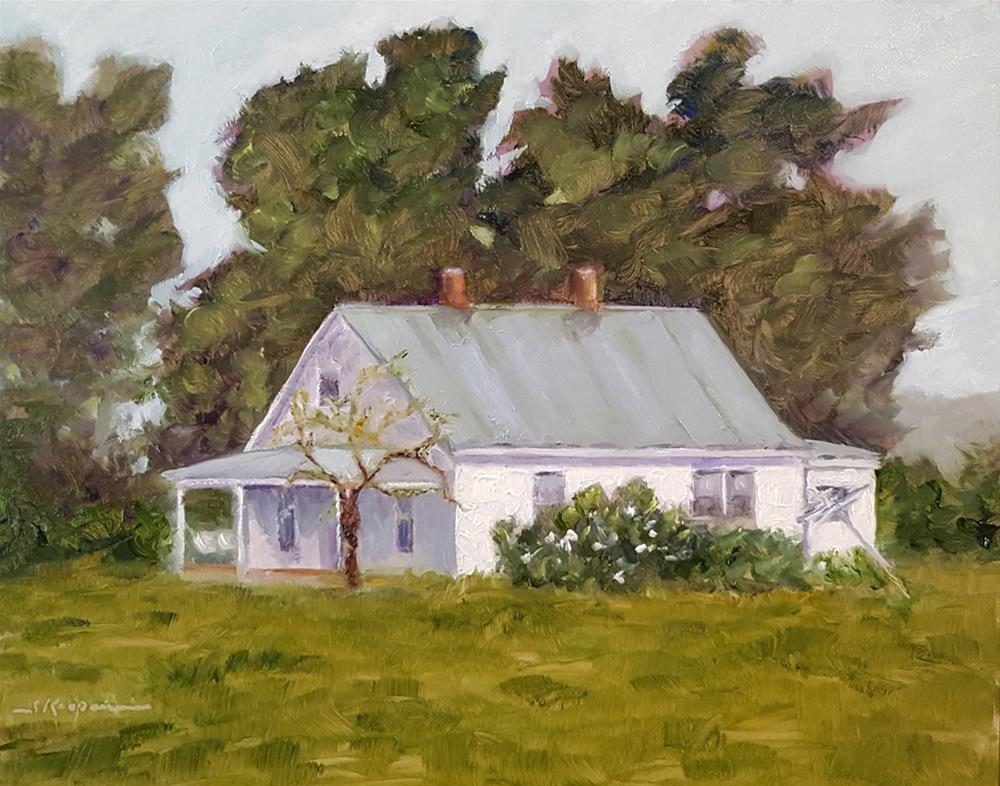 """Country House in Spring"" original fine art by Shelley Koopmann"