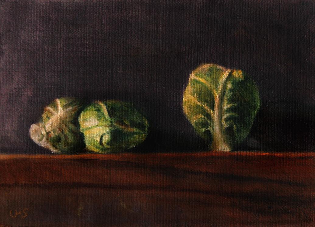 """Brussels Sprouts"" original fine art by Ulrike Miesen-Schuermann"