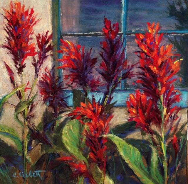 """Summer Color At The Botanical Garden"" original fine art by Cindy Gillett"