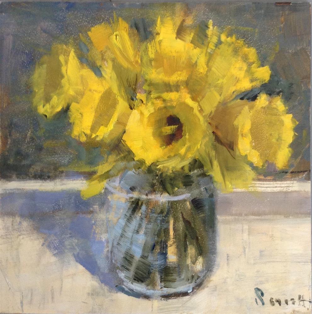 """Spring Daffodils"" original fine art by Barbie Smith"