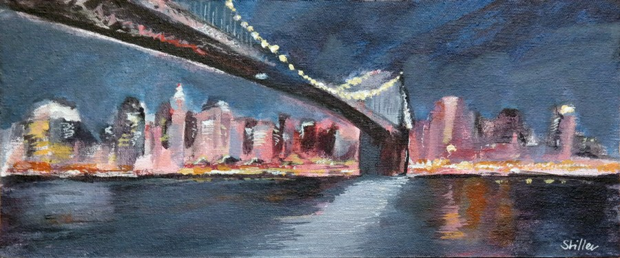 """1935 Brooklyn Bridge One"" original fine art by Dietmar Stiller"
