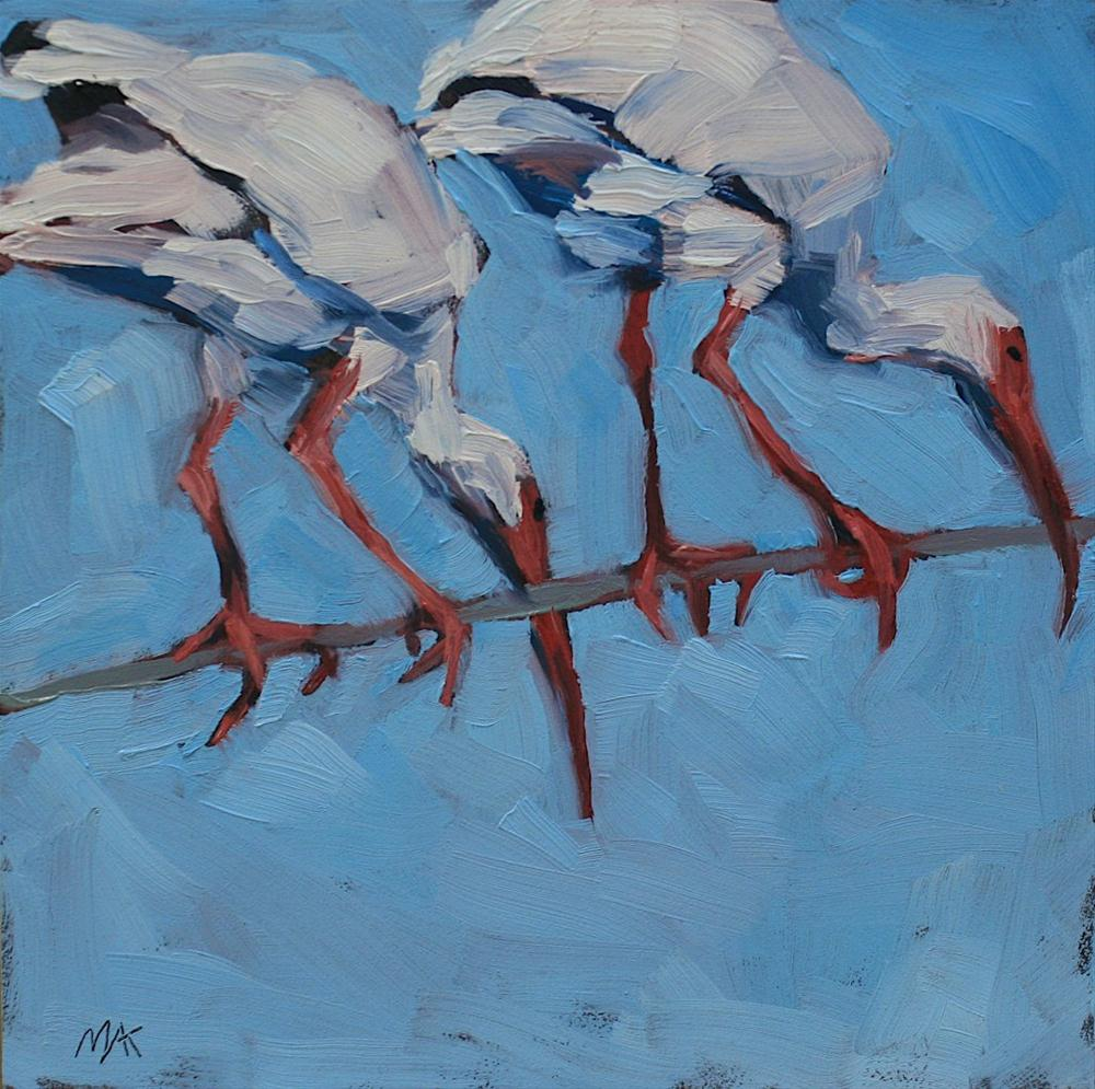 """Two Ibis"" original fine art by Mary Anne Cary"