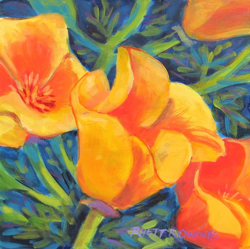 """California Gold"" original fine art by Rhett Regina Owings"