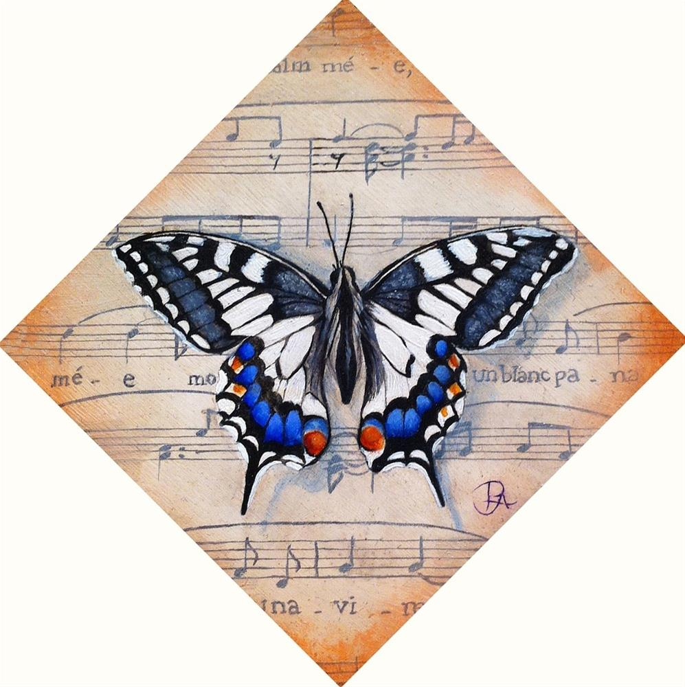 """""""Insect Music I: Madame Butterfly"""" original fine art by Patti Adams"""