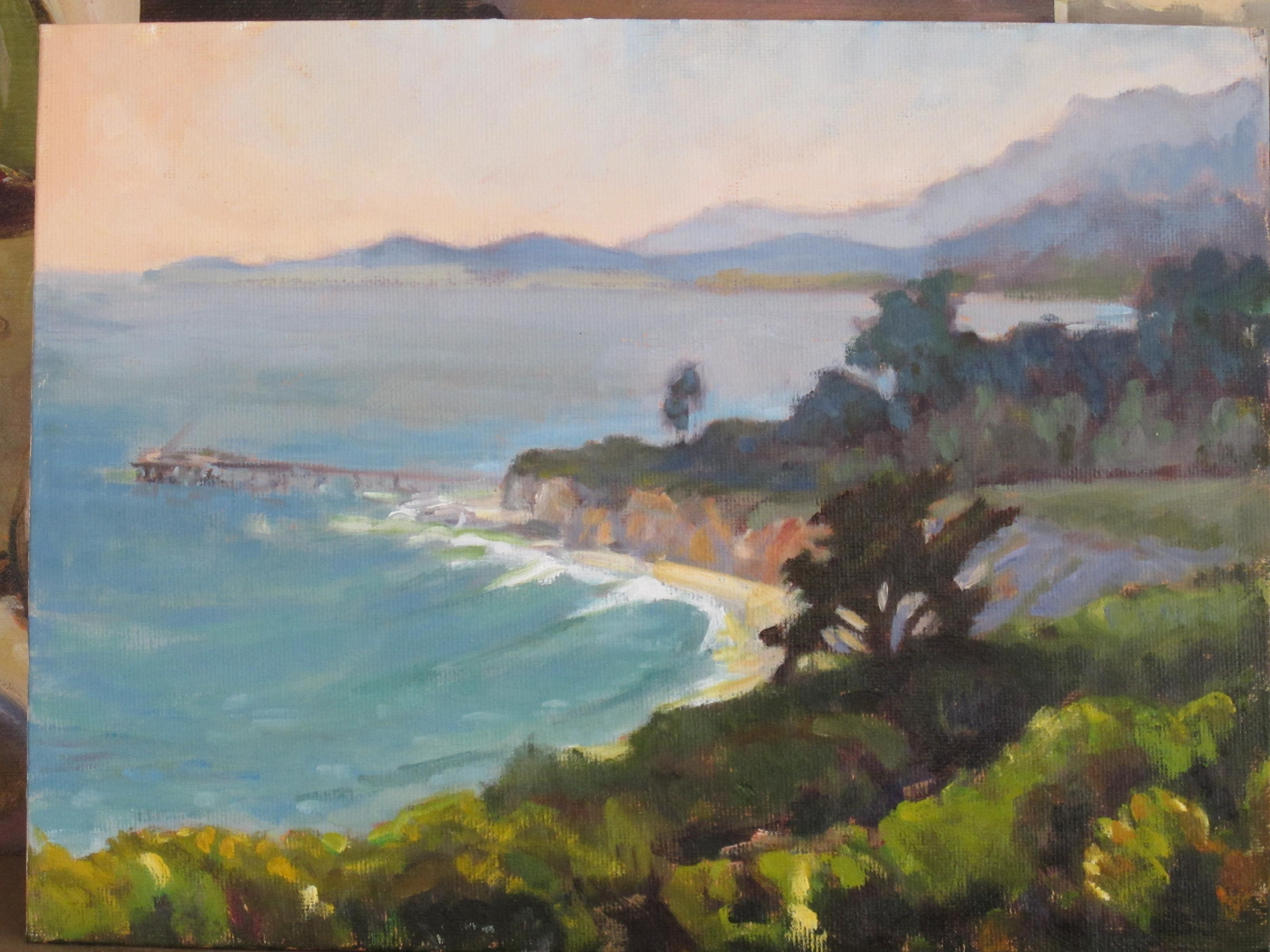"""carpinteria bluffs"" original fine art by Leigh Alexandra Sparks"