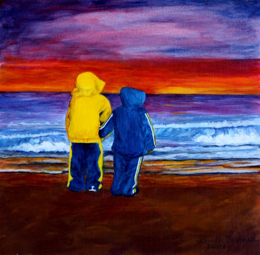 """Brothers"" original fine art by Lendel Holmes"