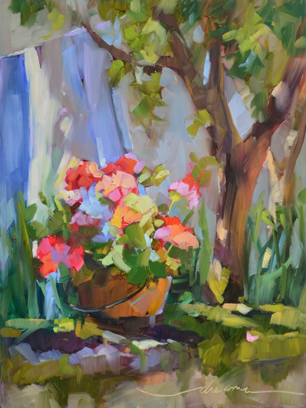 """""""Sun Day in France"""" original fine art by Dreama Tolle Perry"""
