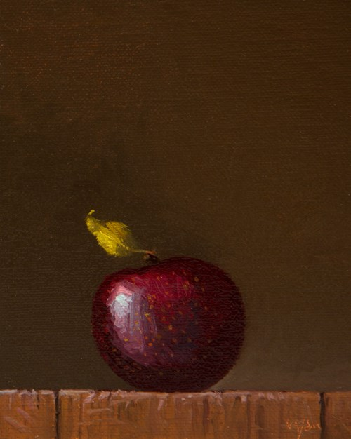 """""""Fall Apple in Late Afternoon Light"""" original fine art by Abbey Ryan"""