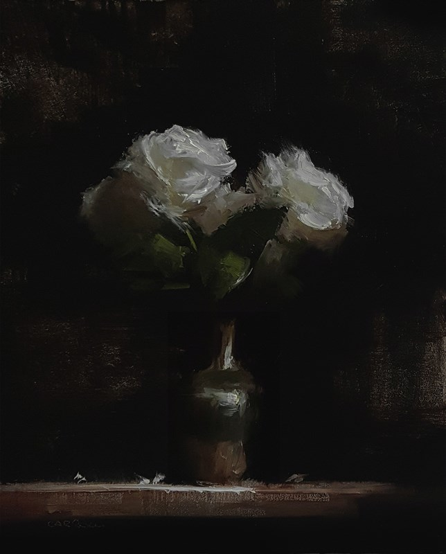 """Green Bottle Roses"" original fine art by Neil Carroll"