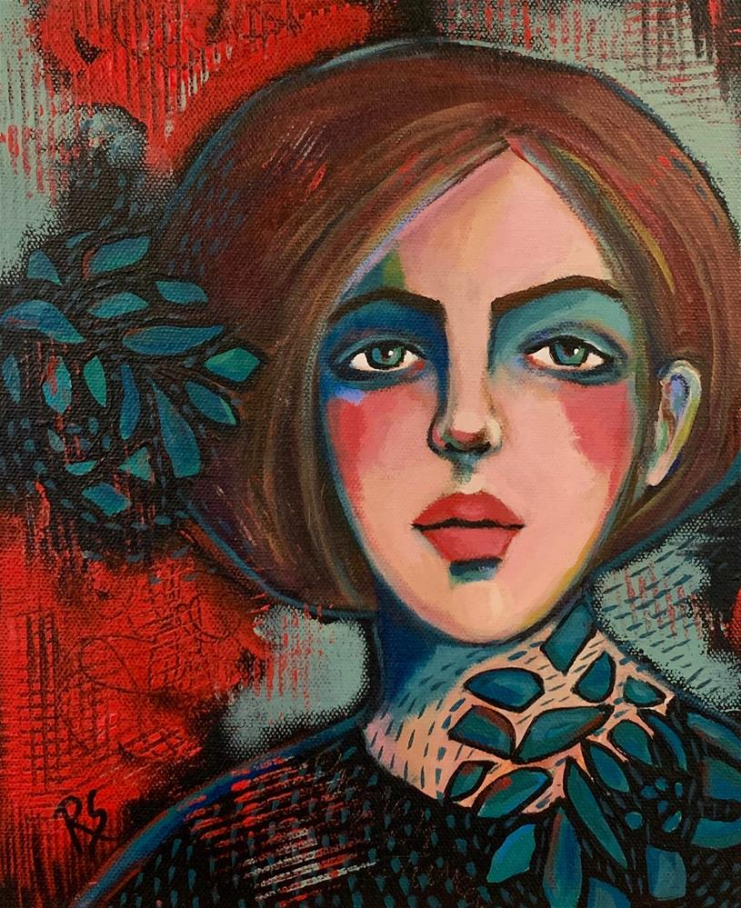 """Portrait of Villette"" original fine art by Roberta Schmidt ArtcyLucy"