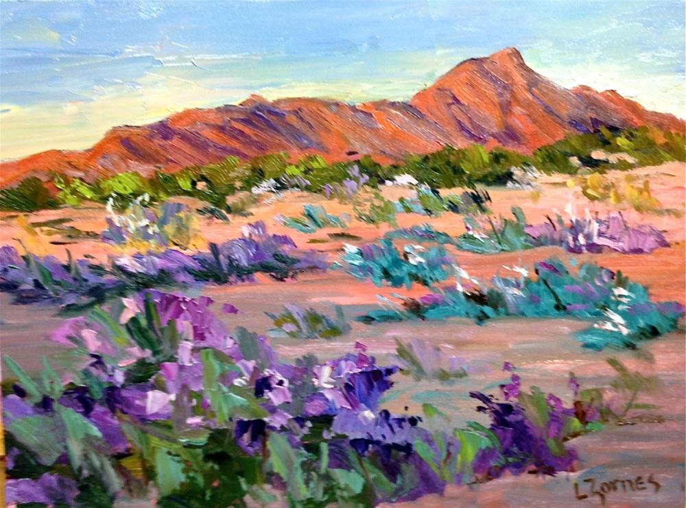 """""""Desert in Bloom"""" original fine art by Liz Zornes"""